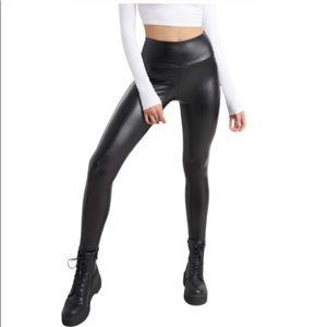 GARAGE Faux Leather High Rise Leggings